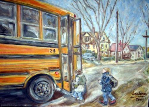 School Bus #24 by Joseph Sandora