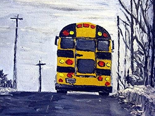 schoolbus painting