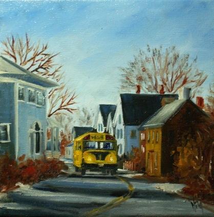 The School Bus by Nita Leger Casey