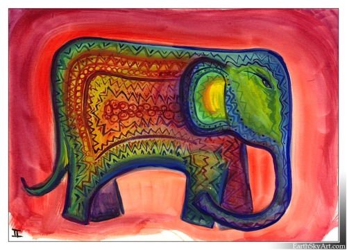 Indian Elephant by Helen Lambert