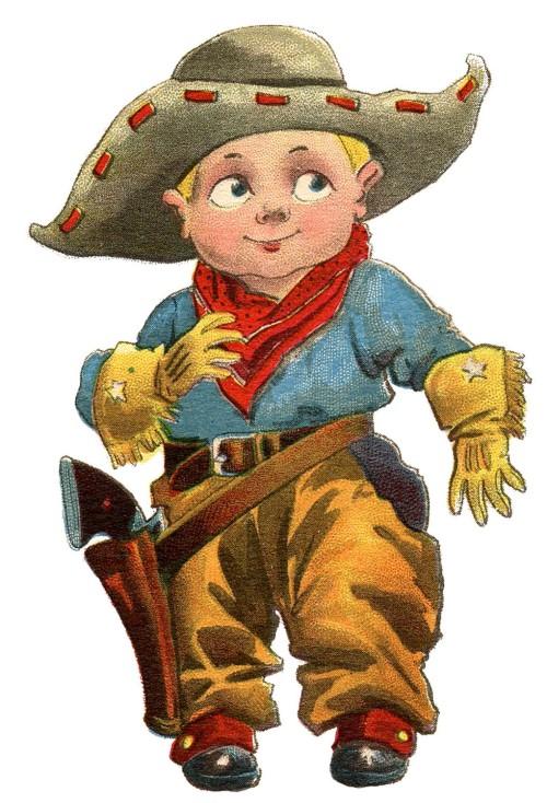 lil cowboy vintage graphicsfairy005d