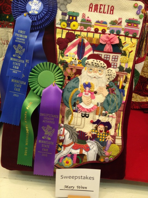 Wonder what Amelia will get in her stocking this year? Maybe the ribbons.