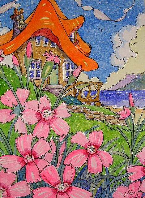 Cottage by the Sea by Alida Akers