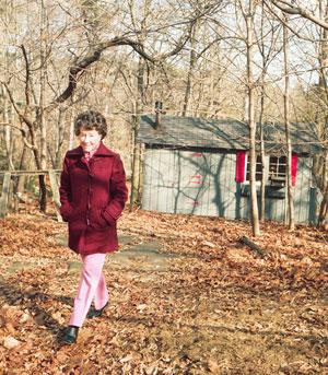 Anne Morrow Lindbergh and her writing studio