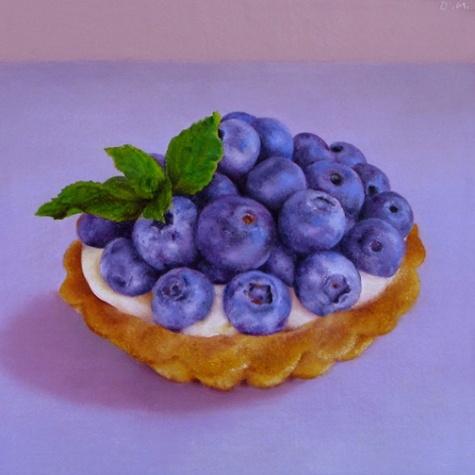 Blueberry Tart by Oriana Kacicek