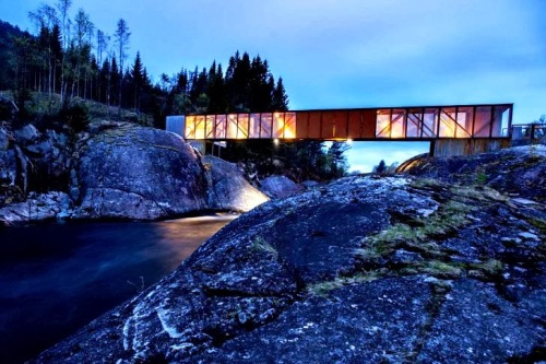 The beautiful Hose Bridge at Sand, a favorite picnic spot -