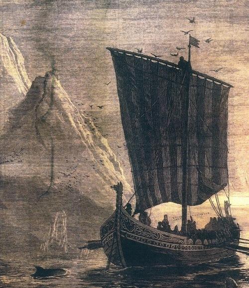 Viking Longship by Granger