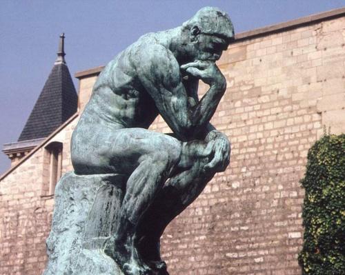 Rodin's The Thinker - has he forgotten something?