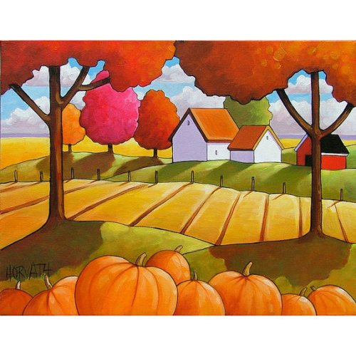 Autumn Pumpkins by Cathy Horvath Buchanan