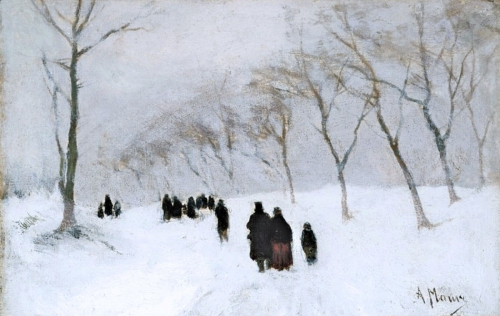 Snowstorm of the Century by Anton Mauve, Russia