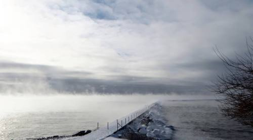 Sea Smoke at Two Harbors, photo by Lou Walters