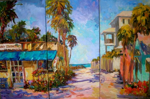 Florida triptych by Helen Tilston, Mary Rose Holmes and Violetta Chandler