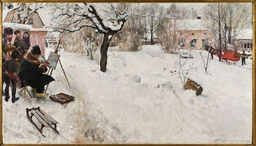 Winter Motif from Asogatan by Carl Larsson