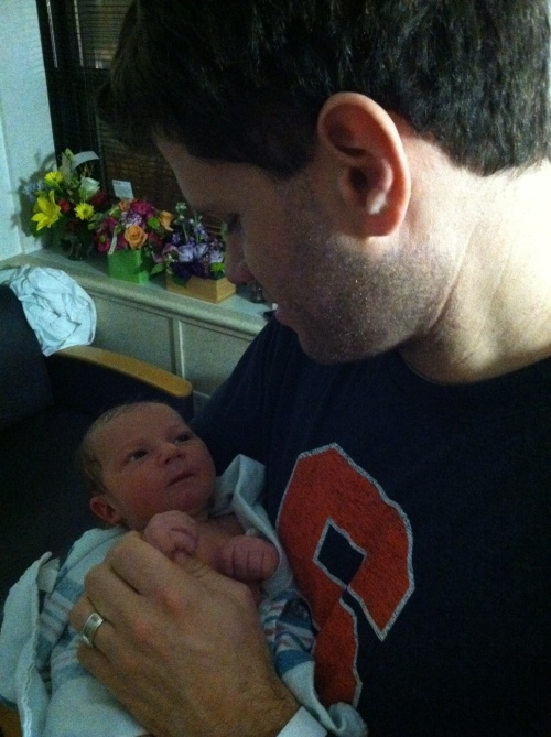 Son Seth and Gustaf, 1 day old