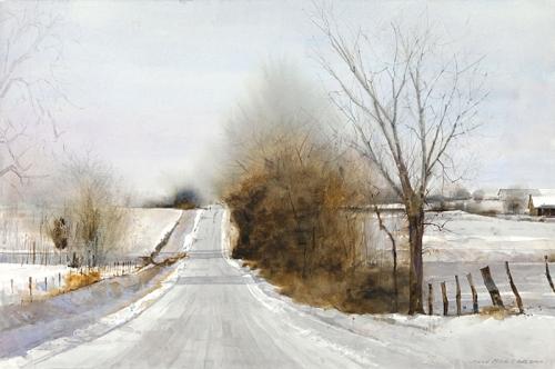 Snowy Hills by Dean Mitchell