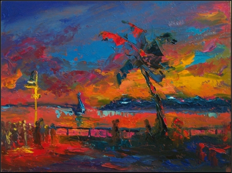 Sunset on Mallory Square by Maryanne Jacobsen