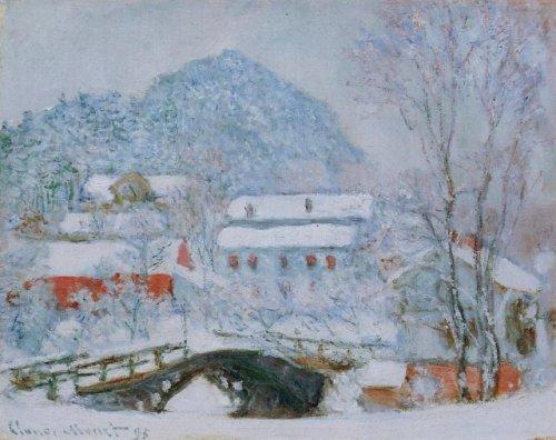 Sandviken Norway, Village in the Snow by Claude Monet