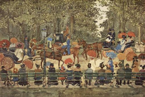 Central Park in New York in 1901 by Maurice Pendergast