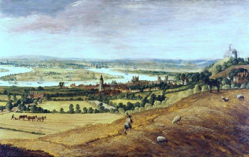 Countryside outside London in 17th Century