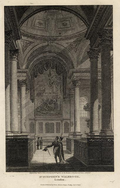 """St Stephens, Walbrook, City of London, early """"new church"""", around 1700"""