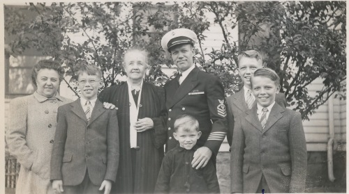 The family with Grandmother Christine, 1945