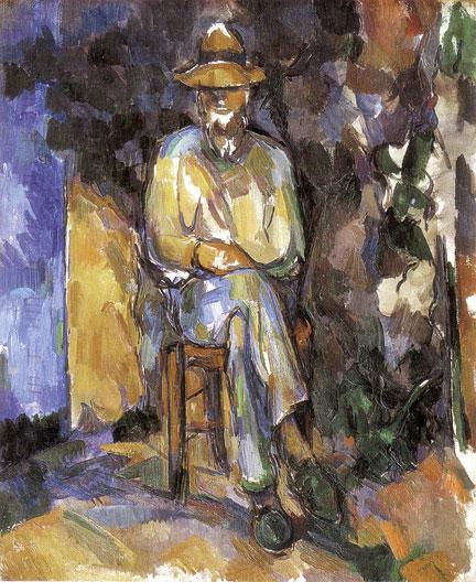 Man in Chair by Paul Cezanne