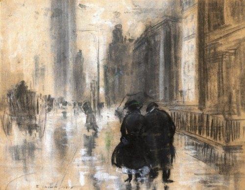 Fifth Avenue by Everett Shinn, 1910