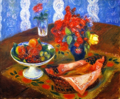 Fruit and Roses by William Glackens