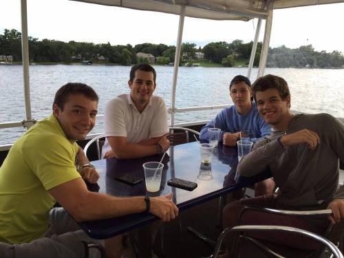 Grandsons and nephews on the boat